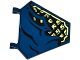 Part No: x1435pb020R  Name: Flag 5 x 6 Hexagonal with Dark Blue Cloth over Samurai Armor Pattern Model Right Side (Sticker) - Set 70737
