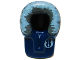 Part No: x205pb02  Name: Minifigure, Headgear Hood Fur-lined with Blue and Gray Fur and Jedi Order Insignia Pattern