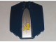 Part No: x224pb010  Name: Windscreen 8 x 6 x 2 Curved with Agents Logo on Silver Background Pattern (Sticker) - Set 8971