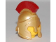 Part No: 90392pb01  Name: Minifigure, Headgear Helmet Spartan Warrior with Dark Red Crest Pattern