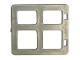 Part No: 2206  Name: Duplo Door / Window Pane 1 x 4 x 3 with Four Diffrent Sizes Panes Square Corners
