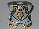 Part No: 2587pb23  Name: Minifigure, Armor Breastplate with Leg Protection, Kingdoms Lion Head Pattern