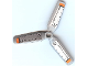 Part No: 30332pb002  Name: Propeller 3 Blade 9 Diameter with Orange Tips and Black Rods Pattern (Stickers) - Set 8968