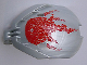 Part No: 41671pb04  Name: Bionicle Bohrok Windscreen 4 x 5 x 7 with Red Scales and Tahnok-Kal Logo