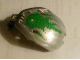 Part No: 41671pb06  Name: Bionicle Bohrok Windscreen 4 x 5 x 7 with Green Scales and Lehvak-Kal Logo