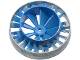 Part No: 53983pb02  Name: Engine, Very Large Turbine, with Blue Marbled Center