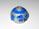 Part No: 553pb006  Name: Brick, Round 2 x 2 Dome Top with Blue Pattern (R2-D2 Clone Wars)