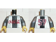 Part No: 973pb0007c01  Name: Torso Coca-Cola Logo with Black Stripe Pattern / Flat Silver Arms / Yellow Hands
