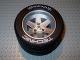 Part No: 22969c04  Name: Wheel 62mm D. x 46mm Technic Racing Large, with Black Tire Technic Racing Large with 'Technic Racing' White Pattern (22969 / 32296pb01)