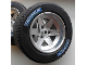 Part No: 22969c06  Name: Wheel 62mm D. x 46mm Technic Racing Large with 2x 'OZ WHEELS' Pattern (Stickers), with Black Tire Technic Racing Large with 'MICHELIN' White Pattern (22969pb01 / 32296pb02)