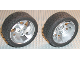 Part No: 32197c01  Name: Wheel 81.6 x 34 ZR Three Spoke Swirl, with Black Tire 81.6 x 34 ZR Thin Sporty Tread (32197 / 32196)