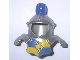 Part No: 51728pb02  Name: Duplo Wear Head Armor with Blue Top Feather and Blue and Yellow Breastplate with Lion and Crown Pattern