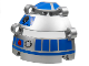 Part No: 51ps2  Name: Technic, Panel Dome 6 x 6 x 5 2/3 with R2-D2 Eye Pattern