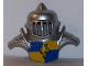 Part No: 54031pb01  Name: Duplo Wear Head Armor with Silver Faced Shield and Yellow Breastplate with Lion and Crown Pattern