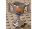 Part No: 89801pb02  Name: Minifigure, Utensil Trophy Cup with Ocean Waves and Seagulls Pattern (Sticker) - Set 8897