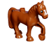 Part No: 1376pb01  Name: Duplo Horse with one Stud and Raised Hoof with White Blaze Pattern