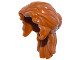 Part No: 15499  Name: Minifigure, Hair Female Mid-Length Wavy, Pulled Back with Partial Bun, Side Bangs, Hole on Top