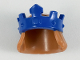 Part No: 18835pb02  Name: Minifigure, Hair Mid-Length, Straight with Blue Crown Pattern