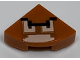 Part No: 25269pb014  Name: Tile, Round 1 x 1 Quarter with Pixelated Goomba Face Pattern