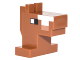 Part No: 25769pb01  Name: Plate, Modified 1 x 2 with Cube Horse Head with Pixelated Eyes and Top of Nose Pattern (Minecraft Horse)