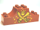Part No: 4197pb013  Name: Duplo, Brick 2 x 6 x 2 Curved Ends with Crossed Scimitar and Map and Pot of Gold Pattern