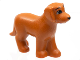 Part No: 6201pb01  Name: Dog, Belville, Standing with Black Eyes, Eyebrows and Nose Pattern