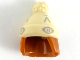 Part No: 68502pb01  Name: Minifigure, Hair Combo, Hair with Hat, Straight Shoulder Length with Tan Stocking Cap and Light Bluish Gray Shapes Pattern