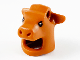 Part No: 73720pb01  Name: Minifigure, Headgear Head Cover, Costume Mask Cow / Ox with Black Eyes Pattern
