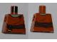 Part No: 973pb0932  Name: Torso SW Dark Brown Waist Sash, Sand Green Neck Pattern