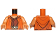 Part No: 973pb1693c01  Name: Torso SW Jedi Robe, Dark Tan Belt and Reddish Brown Undershirt Pattern (Ithorian Jedi) / Medium Dark Flesh Arms / Medium Dark Flesh Hands