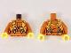 Part No: 973pb2755c01  Name: Torso Jumpsuit with Orange Harness Pattern / Dark Orange Arms / Yellow Hands