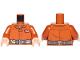 Part No: 973pb3211c01  Name: Torso SW Pilot Jumpsuit with Dark Bluish Gray Belt and Resistance Commander Insignia Pattern (Poe Dameron) / Dark Orange Arms / Light Flesh Hands