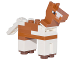 Part No: minehorse01  Name: Minecraft Horse Dark Orange - Brick Built