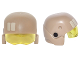 Part No: 23947c01pb01  Name: Minifigure, Headgear Helmet SW Resistance Trooper with Trans-Yellow Visor with Tan Rectangles and Black Circles Pattern
