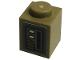 Part No: 3005pb045  Name: Brick 1 x 1 with Dark Tan Door Switches Pattern (Sticker) - Set 75290