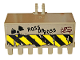 Part No: 30394pb01  Name: Vehicle, Digger Bucket 7 Teeth 3 x 6 with Locking 2 Finger Hinge with 'ROSS DA BOSS', 'CPG' and Nuclear Symbol Pattern (Sticker) - Set 76078