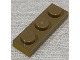 Part No: 3623pb021  Name: Plate 1 x 3 with Metallic Gold Pattern on Short Edge