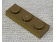 Part No: 3623pb022  Name: Plate 1 x 3 with Metallic Gold Pattern on Long Edge