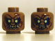 Part No: 3626cpb0871  Name: Minifigure, Head Dual Sided LotR Goblin Light Yellow Eyes, 8 Teeth / 7 Teeth Pattern - Hollow Stud