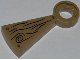 Part No: 40243pb002  Name: Stairs Spiral Step with Wood Grain, Large Knot and 3 Screws Pattern (Sticker) - Set 79103