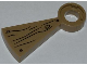 Part No: 40243pb003  Name: Stairs Spiral Step with Wood Grain, Small Knot and 3 Screws Pattern (Sticker) - Set 79103