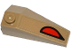 Part No: 43710pb09  Name: Wedge 4 x 2 Triple Left with Red and Black Eye Pattern (Sticker)