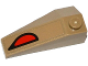 Part No: 43711pb09  Name: Wedge 4 x 2 Triple Right with Red and Black Eye Pattern (Sticker)