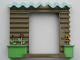 Part No: 44718  Name: Duplo Building Wall 10 x 2 x 7 Corrugated with flower pots (Little Robots)