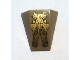 Part No: 47753pb037  Name: Wedge 4 x 4 No Top Studs with Gold Emblem Pattern (Sticker) - Set 6869