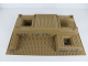 Part No: 51542pb003  Name: Baseplate, Raised 32 x 48 x 6 with Level Front with Stone Pattern on Four Sides and Pit Pattern (21 Stickers) - Set 7627-1