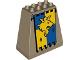 Part No: 54010pb02  Name: Duplo, Brick 3 x 6 x 5 Slope 75 Quadruple with Lion and Crown Banner Pattern