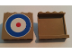 Part No: 60581pb052  Name: Panel 1 x 4 x 3 with Side Supports - Hollow Studs with Blue Circle and Red Dot (British Roundel) Pattern (Sticker) - Set 10226