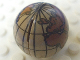 Part No: 61287c01pb01  Name: Cylinder Hemisphere 2 x 2 with Globe Pattern - Undetermined Globe Color