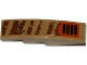 Part No: 61678pb080R  Name: Slope, Curved 4 x 1 No Studs with Tiger Stripes, Armor Plates, Rivets and Grille Pattern Model Right Side (Sticker) - Set 70220